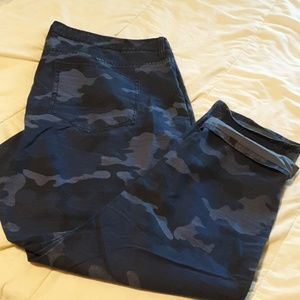 GAP Blue Camo Boyfriend Utility Chino
